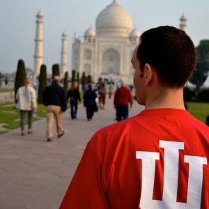 An IU Student in front of Taj Mahal