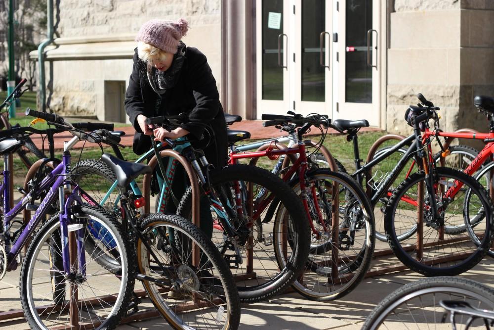Bike racks at IU