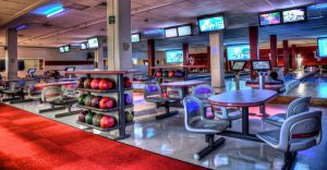 Shot of IMU Bowling alley