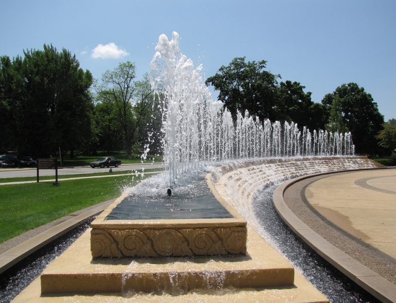 McKinney Fountain at the Jacobs School Of Music