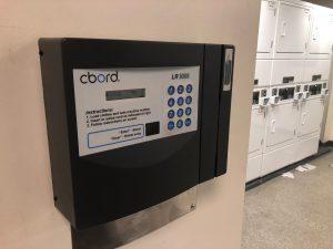 IU laundry room's card scanner
