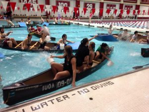 Stduents playing Battleship at the SRSC