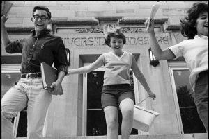 Old image of children jumping around