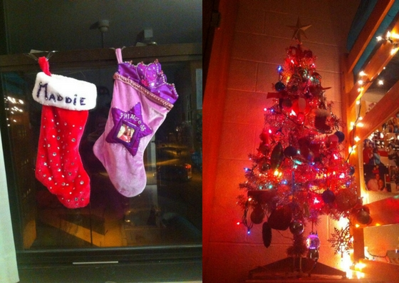 stocking and tree