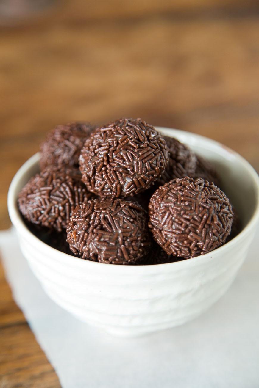 Chocolate sprinkle balls