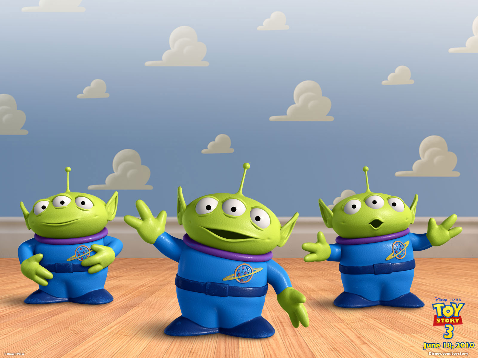 A cartoon shot of aliens