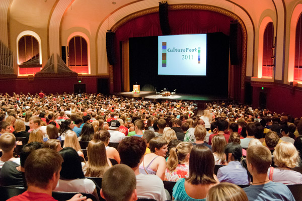 IU Auditorium filled with people for Culture fest 2011