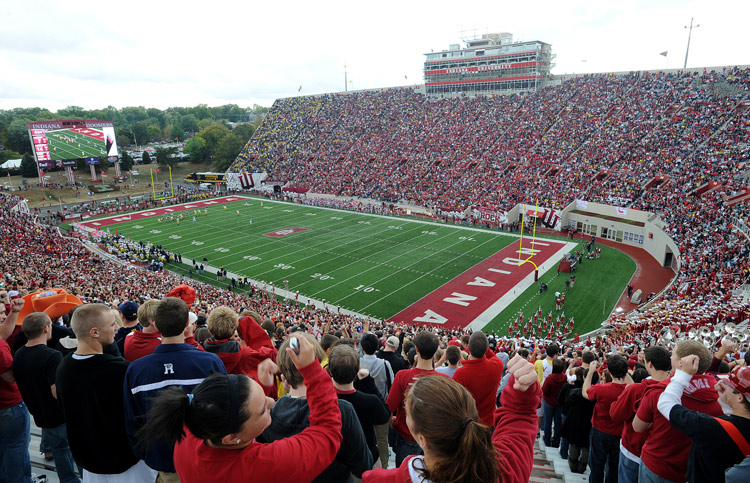IU Football stadium during a game