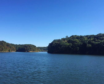 Day shot of a Griffy lake