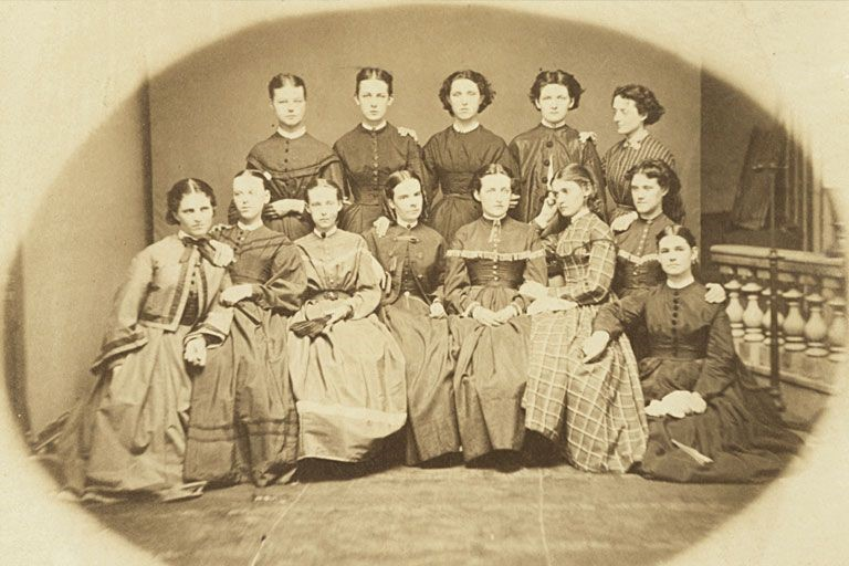 At least a centuary old group photo of female students