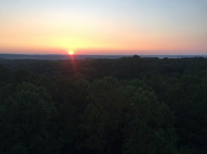 Sunset photo from Fire tower