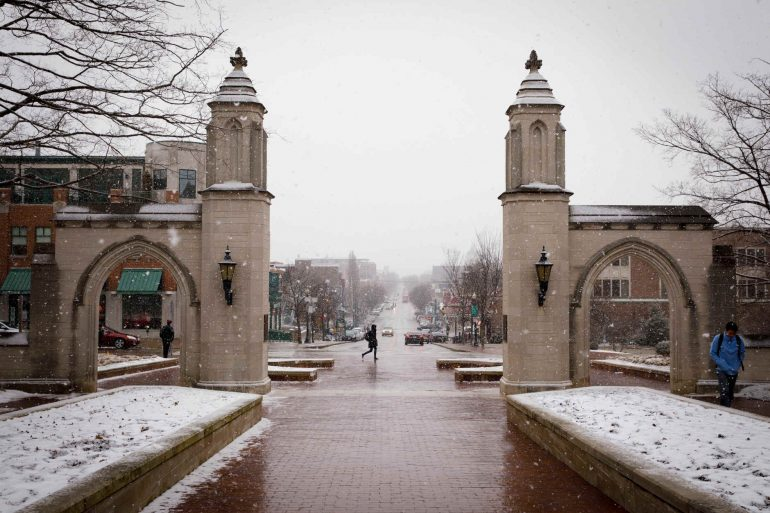 Sample Gates in the winter, covered in snow