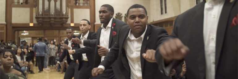 Group of guys dancing