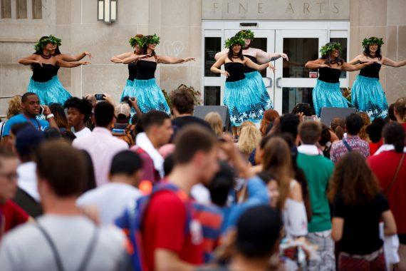 A dance performance in culture fest