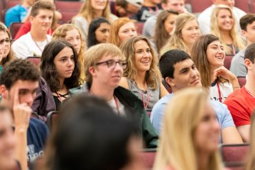 Students during an event