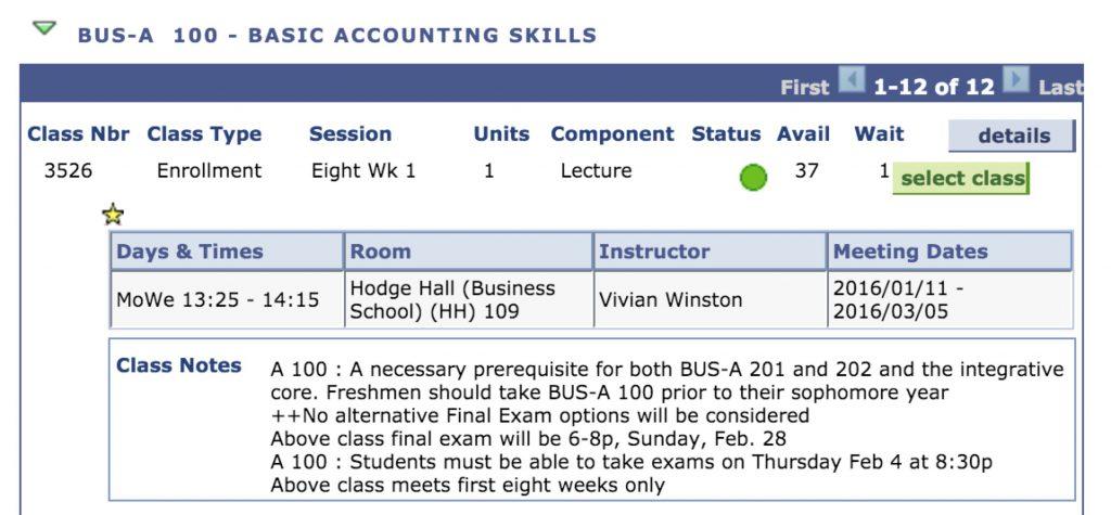 Basic accounting skills class