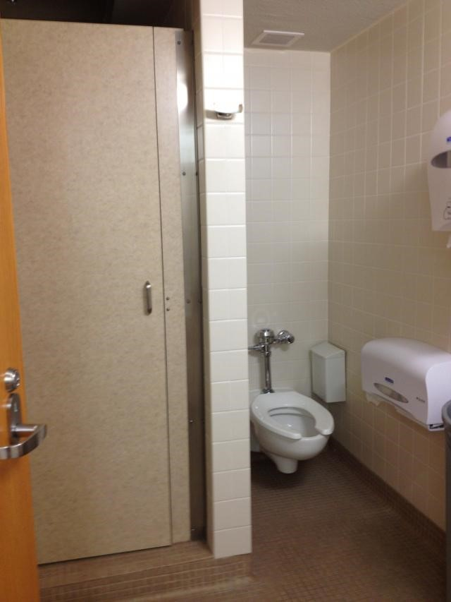 A dorm bathroom