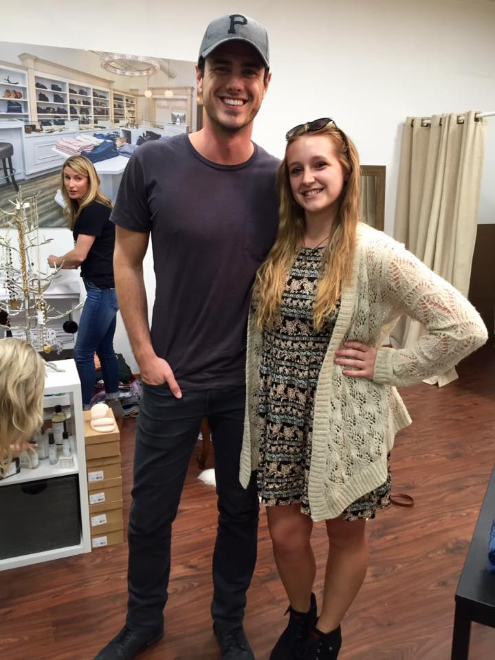 Author posing with Ben Higgins