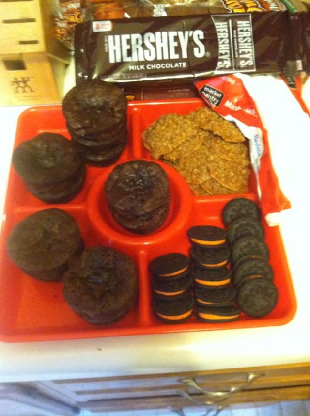 A tray full of cookies