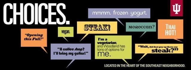 Food choices at IU