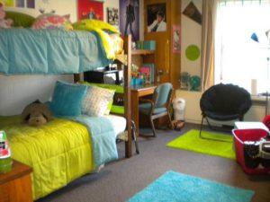 A dorm room