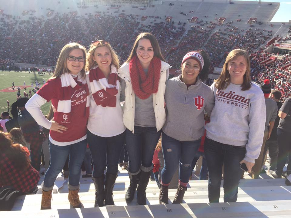 Friends at an IU Football game