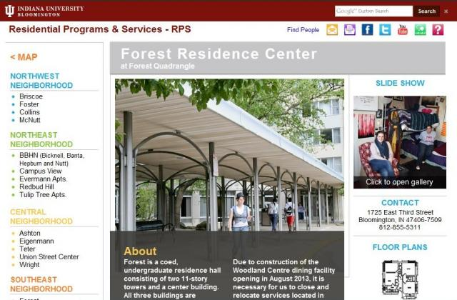 Residential Programs and Services website