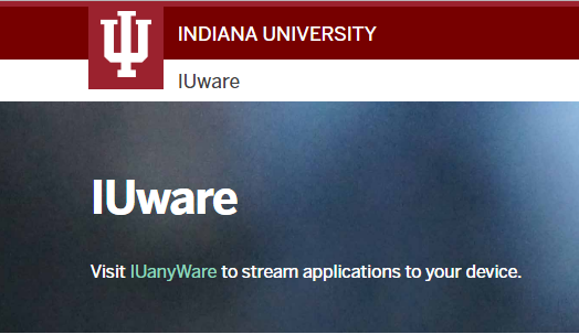 Software at IU – a quick overview