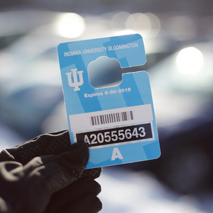 An IU parking pass