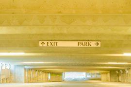 A parking garage