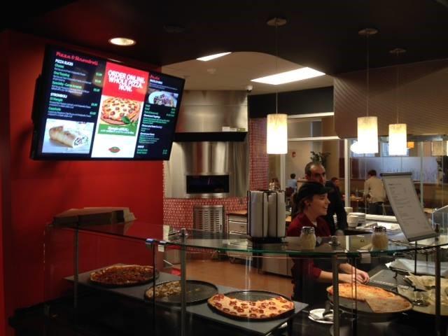 A pizza buffet