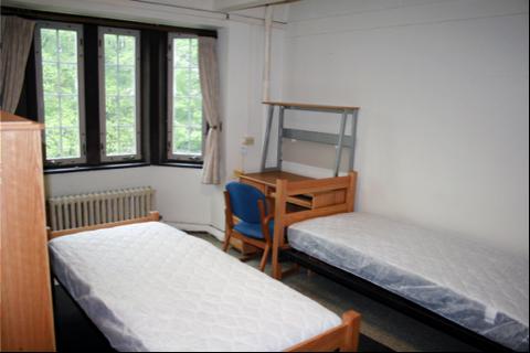 A empty dorm room