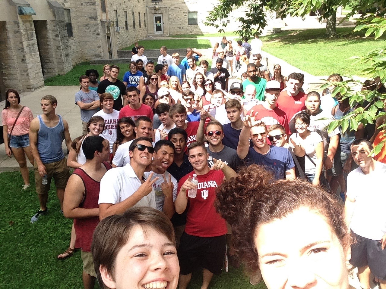 Welcome Week 2014 in Wright Quad